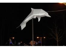 Origami alėjoje buvo galima pamatyti įvairiausių vandens gyvūnų