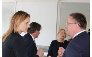 LSA viceprezidentas Š. Vaitkus su Liberalų sąjūdžio pirmininke Viktorija Čmilyte-Nielsen