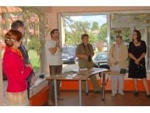 Simpoziumo dalyviai: D.Čistovaitė, jos vyras Vasilijus, A.Makštutis, V.Gaudiešiūtė, S.Želnytės mama ir D.Kviekštaitė.