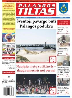 Palangos tilto laikraštis, Data: 2013-01-03, Numeris: 1 (1142)