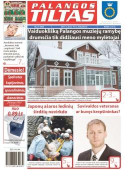 Palangos tilto laikraštis, Data: 2011-03-18, Numeris: 21 (965)
