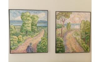 Šventosios bibliotekoje – Viktoro Šato tapybos darbų paroda