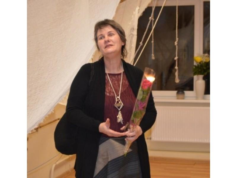 Parodos autorė Audronė Bukauskienė pristatė savo darbus, kuriuos skyrė Šventosios uostui ir jo istorijai.