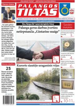 Palangos tilto laikraštis, Data: 2018-10-25, Numeris: 43(1668)