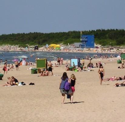 Smėliu pamaitinti Palangos paplūdimiai pasižymi puikia kokybe