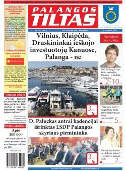 Palangos tilto laikraštis, Data: 2013-03-25, Numeris: 23 (1164)