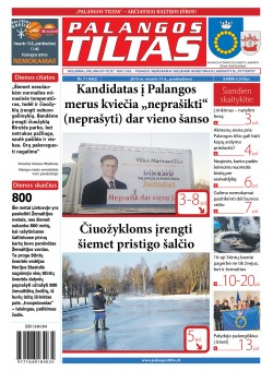 Palangos tilto laikraštis, Data: 2019-02-17, Numeris: 7 (1682)