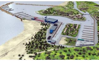 Įsibėgėjo Šventosios uosto statybos darbai
