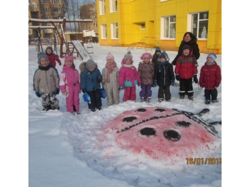 """Sniego statiniai lopšelyje-darželyje """"Gintarėlis"""""""