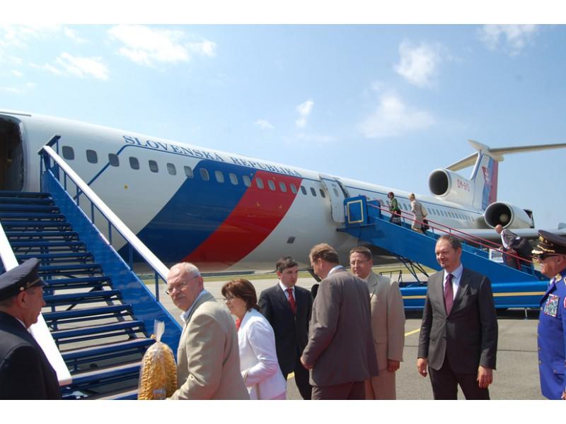 Sugedęs lėktuvo degalų siurblys pratęsė Slovakijos prezidento Ivano Gašparovičiaus viešnagę Palangoje