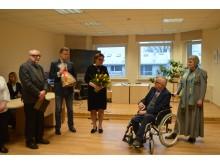 Savivaldybės vardu sveikino Kultūros skyriaus vedėjas Robertas Trautmanas ir Tarybos narė Ilona Pociuvienė.