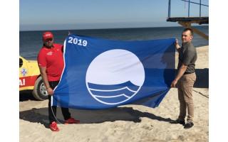Palangos Birutės parko paplūdimyje jau dešimtus metus plevėsuos Mėlynoji vėliava