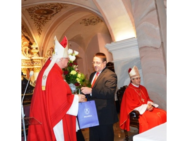 Jubiliejaus proga – sveikinimai vyskupui J. Borutai.