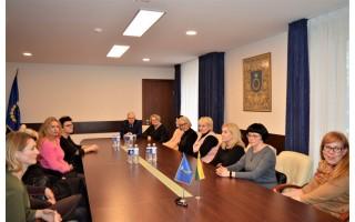 Savivaldybėje lankėsi Vakarų Lietuvos socialinių paslaugų centrų vadovai