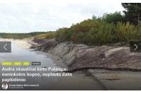 Akmenų siena prie Palangos tilto gali būti kopų ardymo priežastis?