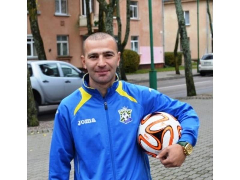 """Futbolo klubo """"Gintaras"""" dalininkas, direktorius ir treneris Marselis Balasanovas"""