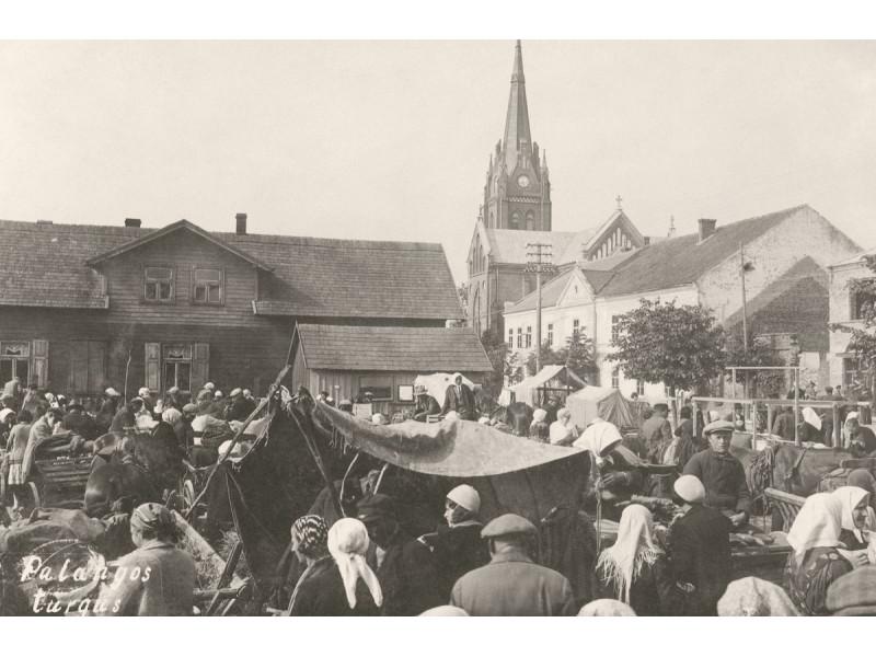 Palangos turgus. Atvirukas, apie 1923–1930 m. (LNM nuotr.)