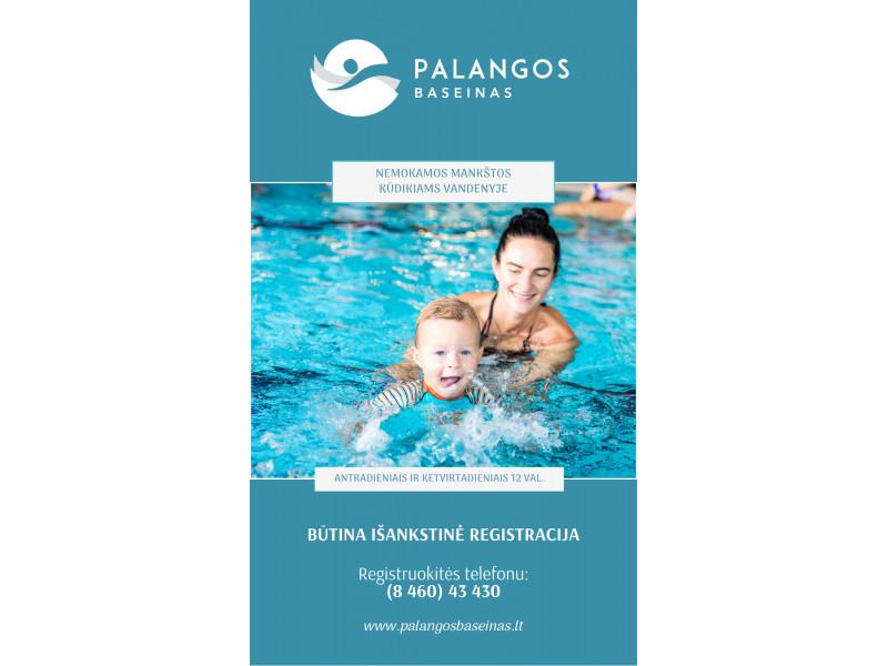 Palangos baseinas kviečia į nemokamas mankštas kūdikiams vandenyje