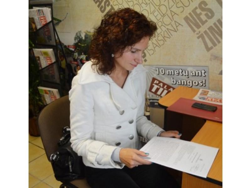 Ingridos Mok rankose – prieš 9 metus įsigaliojęs Klaipėdos miesto apylinkės teismo sprendimas.