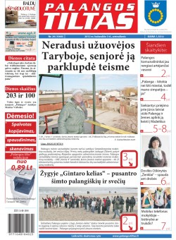 Palangos tilto laikraštis, Data: 2012-04-02, Numeris: 26 (1069)