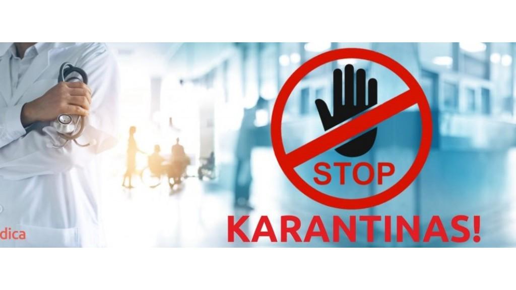 Sveikatos apsaugos ministerija praneša - Lietuvoje griežtinamos visuotinio karantino sąlygos