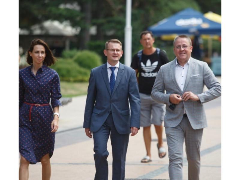 Ministras Arūnas Dulkys ir Palangos meras Šarūnas Vaitkus