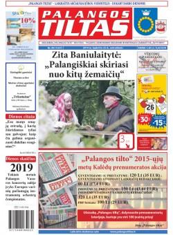 Palangos tilto laikraštis, Data: 2014-11-24, Numeris: 89(1327)