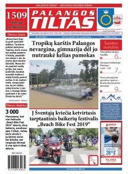 Palangos tilto laikraštis, Data: 2019-06-22, Numeris: 24 (1699)