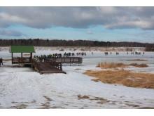 Tradicinėse 10-osiose poledinės žūklės varžybose ant Tūbausių ežero dalyvavo rekordinis skaičius žvejų.