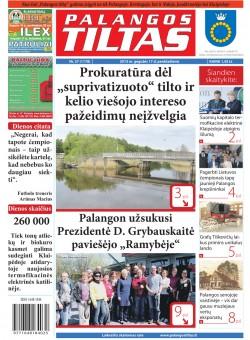 Palangos tilto laikraštis, Data: 2013-05-16, Numeris: 37 (1178)