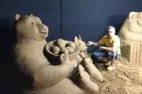 Iš smėlio sukurti animacinių filmų herojai žavi ne tik mažuosius