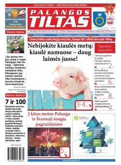 Palangos tilto laikraštis, Data: 2018-12-24, Numeris: 50 (1675)