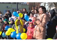 """""""Susirinkom prie Baltijos jūros padainuoti spalvotų dainų"""", – šia daina mažieji pradėjo Kultūros dienos atidarymo ceremoniją."""