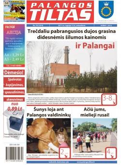 Palangos tilto laikraštis, Data: 2011-09-12, Numeris: 70 (1014)