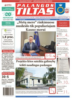 Palangos tilto laikraštis, Data: 2018-03-02, Numeris: 9(1634)
