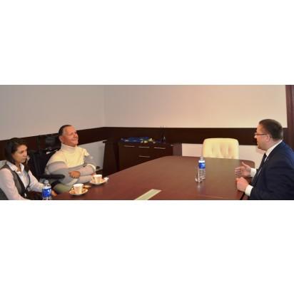 Su aktyviu visuomenininku T. Vilucku aptarti aplinkos pritaikymo neįgaliesiems klausimai