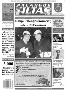 Palangos tilto laikraštis, Data: 2013-12-07, Numeris: 93 (1234)