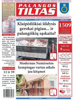 Palangos tilto laikraštis, Data: 2013-08-22, Numeris: 63 (1204)