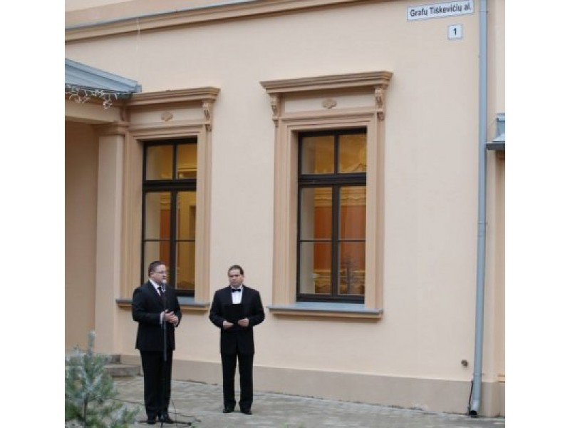 Kurhauzui suteiktas naujas adresas – Grafų Tiškevičių alėja Nr. 1.