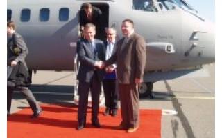 Palangoje nusileido Suomijos Prezidento Sauli Niinisto lėktuvas