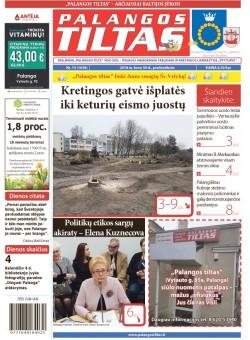 Palangos tilto laikraštis, Data: 2018-03-29, Numeris: 13(1638)