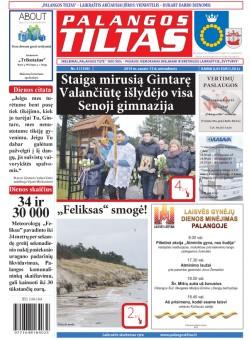 Palangos tilto laikraštis, Data: 2015-01-12, Numeris: 3(1339)
