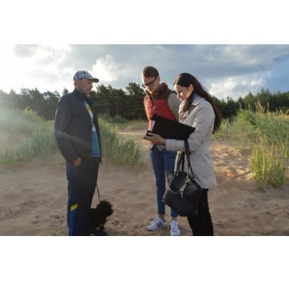 Reido metu paplūdimyje drausminti keturkojų šeimininkai