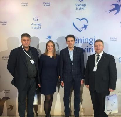 Vaidas Šimaitis, TS-LKD Klaipėdos regiono koordinatorėRasa Petrauskienė, Donatas Elijošius ir Dainius Želvys.