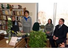 Bibliotekoje pagerbta Palangos šviesuolė Audra Lukauskytė.