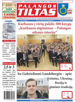 Palangos tilto laikraštis, Data: 2015-02-14, Numeris: 13 (1349)