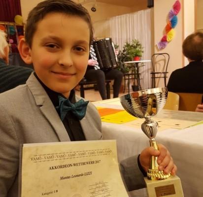 Akordeonistas Mantas Leonardo Lizzi– 1 vietos laimėtojas konkurse Vienoje (Austrija)