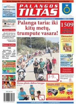 Palangos tilto laikraštis, Data: 2012-08-30, Numeris: 66 (1109)