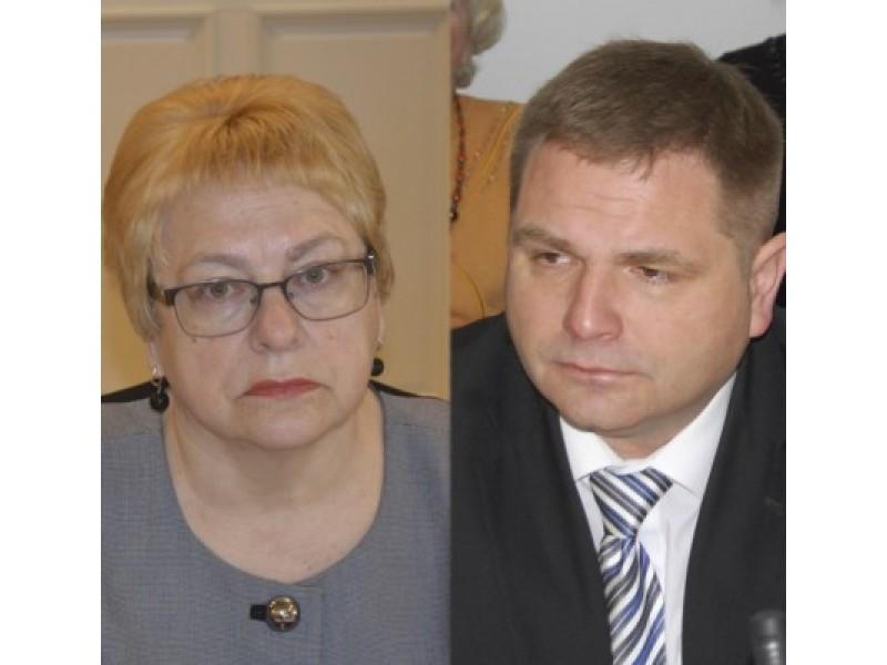 Tarybos nariai E. Kuznecova ir M. Skritulskas.