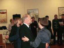 ...ir 30 metų vadovavimo Senajai gimnazijai sukaktį šventęs direktorius A. Karačionka.